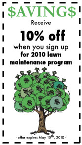 lawn maintenance coupon